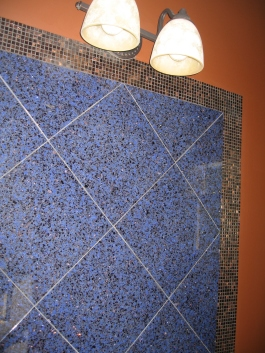 Powder Room Tile Wall After